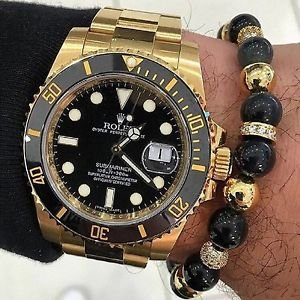 Men Bracelet 8MM Natural agate stone beads 8MM Luxury North skull Gold plated