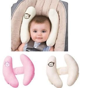 soft Infant baby adjustable protection pillow head neck support fitted car se...