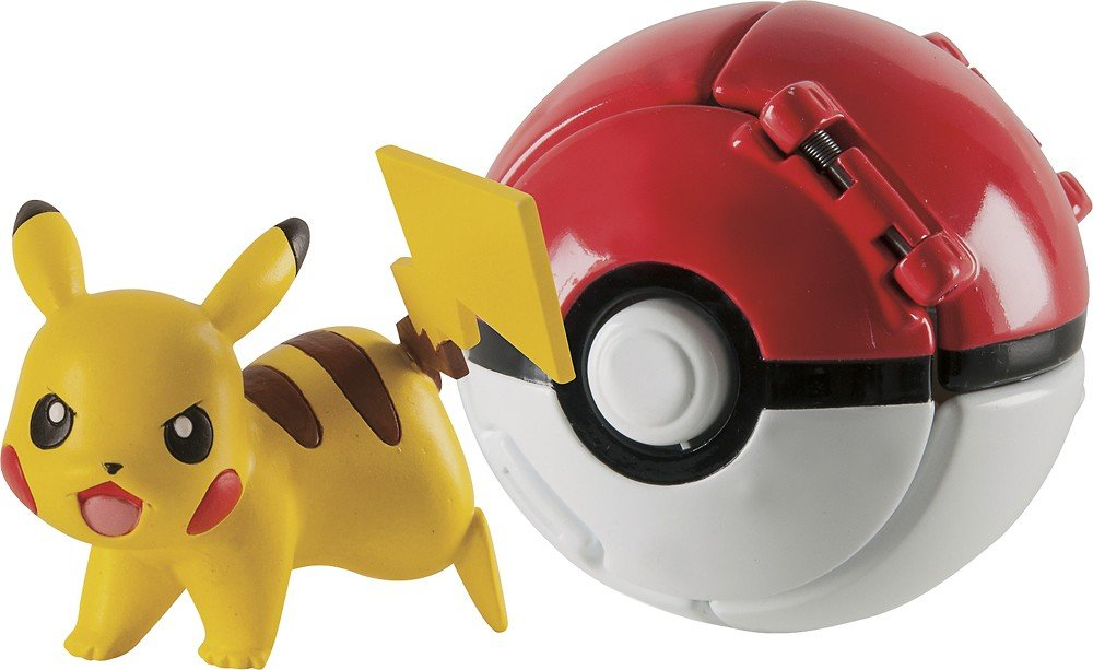 SuperHero Pokemon Throw 'N' Pop Ball RANDOM Figure And Luxury Poke Ball New