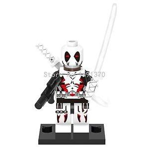 White Deadpool Figure Single Sale Marvel Avengers Super Heroes Minifigure