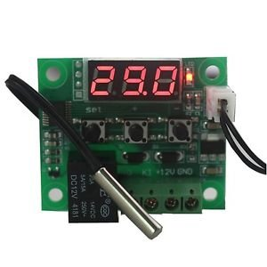 DC 12V heat cool temp thermostat switch temperature controller Miniature ther...