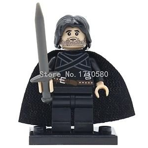 Jon Snow Game of Thrones Minifigures Single Sale Ice and Fire Series Bilding ...
