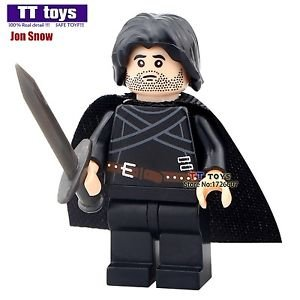 MOC Jon Snow Custom Made Game of Thrones Minifigures Ice and Fire Series Buil...