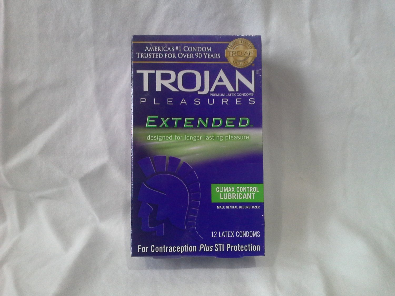 Trojan Pleasures condoms 12 pack Extended