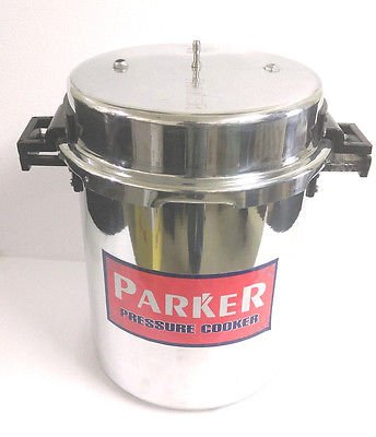 BIG LARGE JUMBO ALUMINUM COMMERCIAL PRESSURE COOKER 30 LITER (31 Quart) STEAMER