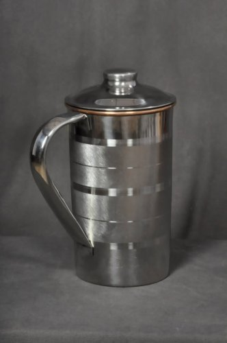 PURE COPPER WATER STORAGE DRINKING JUG PITCHER 1.5 LT. SLIMMING AYURVEDA TUMBLER