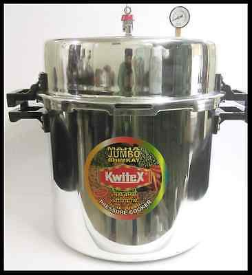 BIG LARGE JUMBO ALUMINUM COMMERCIAL PRESSURE COOKER 83 LITER (84 Quart) STEAMER