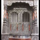 "BIG WOODEN OXIDIZED HINDU POOJA MANDIR PUJA TEMPLE 30"" x 15"" x 18"" GOD HANUMAN"