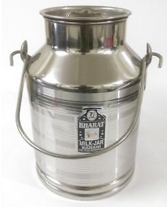 Stainless steel milk oil liquid storage can jug pot for dairy farm 7.5 liters