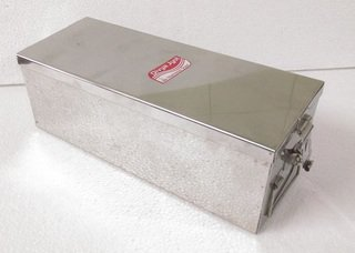 STAINLESS STEEL JEWELRY BOX, BANK LOCKER BOX SAFE VALUABLES STORAGE CANISTER