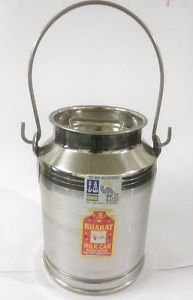 Stainless steel milk oil liquid storage can jug pot for dairy farm 5 liters/qts