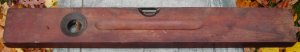 "Stanley Level, No. 9, Antique, mahogany?, 24"", COOL!"
