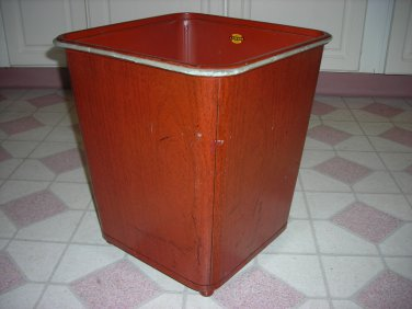 Vintage Waste Basket/ Bin, Lawson, industrial, stream line legs, WOW!