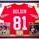 Premium Framed Anquan Boldin Signed 49ers Jersey JSA COA