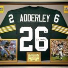 Premium Framed Herb Adderley Autographed Packers Jersey - JSA COA