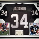 Premium Framed Bo Jackson Signed Oakland Raiders Jersey - JSA COA