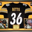 Premium Framed Jerome Bettis Autographed Pittsburgh Steelers Jersey - JSA COA