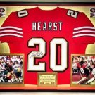 Premium Framed Garrison Hearst Autographed 49ers Jersey - JSA COA - jerry rice