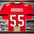 Premium Framed Derrick Brooks Autographed Buccaneers Jersey JSA COA