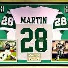 Premium Framed Curtis Martin Signed New York Jets Jersey JSA COA