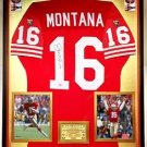 Premium Framed Joe Montana Signed Authentic Wilson Proline 49ers Jersey PSA COA