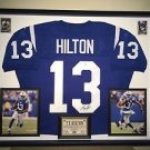 Premium Framed TY Hilton Autographed Colts Jersey Signed JSA COA