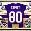 Premium Framed Cris Carter Autographed Vikings Jersey JSA COA - chris carter