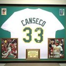 Premium Framed Jose Canseco Autographed Oakland A's Jersey JSA COA Athletics