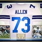 Premium Framed Larry Allen Autographed Cowboys Jersey JSA COA