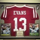 Premium Framed Mike Evans Autographed Texas A&M Aggies Jersey Signed JSA COA