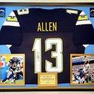 Premium Framed Keenan Allen Signed Chargers Jersey JSA COA