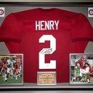 Premium Framed Derrick Henry Autographed Alabama Crimson Tide Jersey - JSA COA