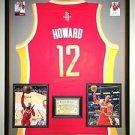 Premium Framed Dwight Howard Autographed Rockets Adidas Jersey Signed JSA COA
