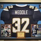 Premium Framed Eric Weddle Autographed Chargers Jersey Signed JSA Authenticated