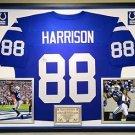 Premium Framed Marvin Harrison Autographed Colts Jersey Indianapolis - JSA COA
