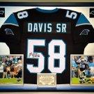Premium Framed Thomas Davis Autographed Carolina Panthers Jersey - JSA COA