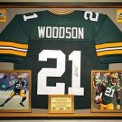 Premium Framed Charles Woodson Autographed Packers Jersey JSA Authenticated