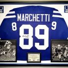 Premium Framed Gino Marchetti Autographed Colts Jersey - JSA COA