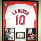 Premium Framed Tony La Russa Autographed St. Louis Cardinals Jersey JSA COA