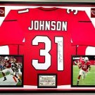 Premium Framed David Johnson Autographed Arizona Cardinals Jersey - JSA COA