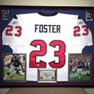 Premium Framed Arian Foster Autographed Reebok On Field Texans Jersey PSA/DNA