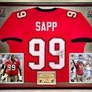 Premium Framed Warren Sapp Autographed Tampa Bay Buccaneers Jersey - JSA COA