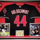 Premium Framed Paul Goldschmidt Autographed Arizona Diamondbacks Jersey PSA COA