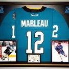 Premium Framed Patrick Marleau Autographed San Jose Sharks Jersey - JSA COA