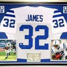 Premium Framed Edgerrin James Autographed Colts Jersey JSA COA