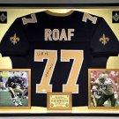 Premium Framed Willie Roaf Signed New Orleans Saints Jersey JSA COA