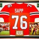 Premium Framed Warren Sapp Autographed Miami Hurricanes Jersey - JSA COA