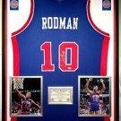 Premium Framed Dennis Rodman Autographed Detroit Pistons Jersey - PSA/DNA COA