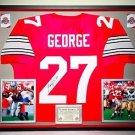 Premium Framed Eddie George Signed Ohio State Buckeyes Jersey - JSA COA - titans