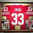 Premium Framed Roger Craig Autographed 49ers Jersey Signed PSA COA